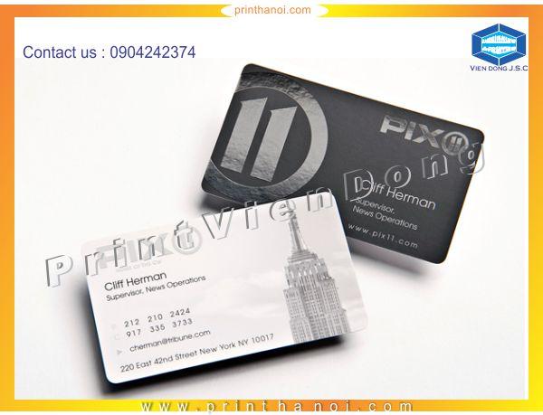 Spot Gloss Business Cards in Hanoi