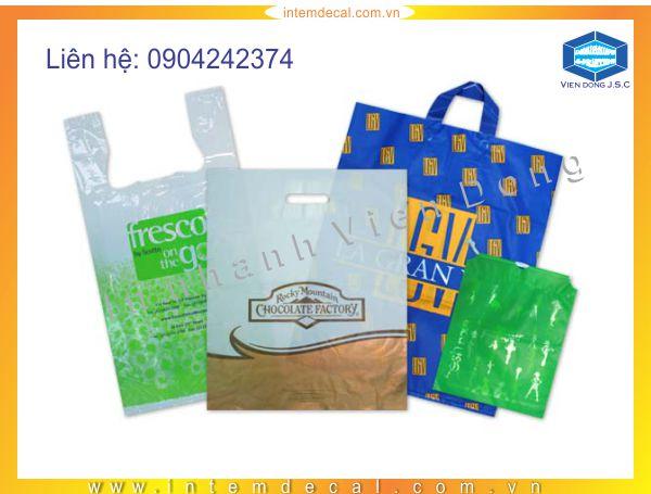 Các mẫu túi shop: túi nilon đục lỗ, túi nilon quai xách, ...