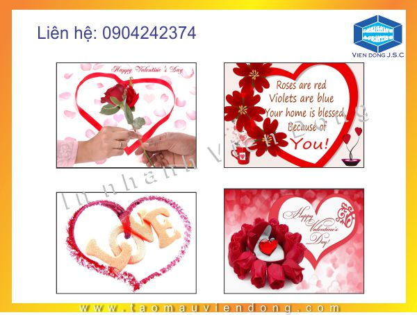 In tui nilon  | In thiệp valentine 14-2 lấy ngay